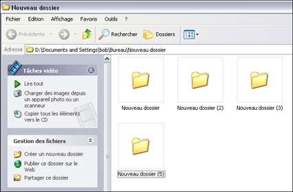 afficher des noms de dossiers disparus sur xp 3
