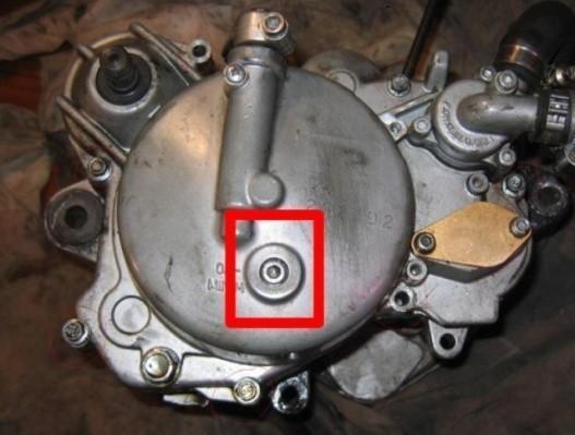 Entretien d'huile de boite moteur derbi