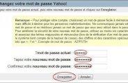 Changer de mot de passe sur Yahoo Mail