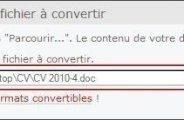 Convertir un fichier en PDF