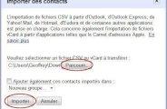 Importer des contacts sur Gmail