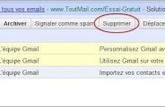 Supprimer ou déplacer un mail sur Gmail