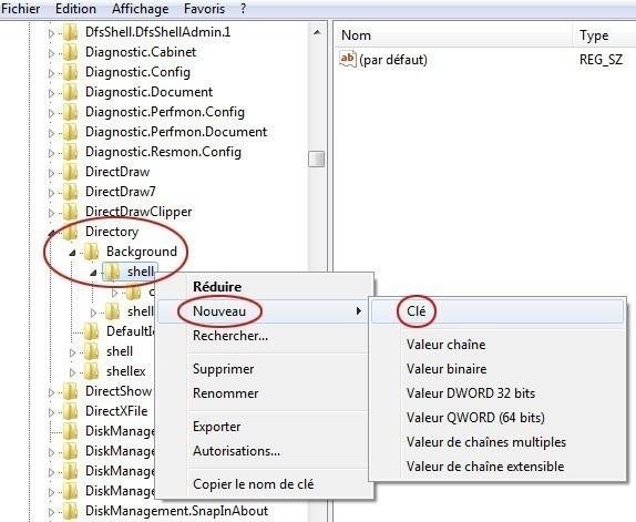 ajouter une application dans le menu clic droit du bureau sur windows 7 2