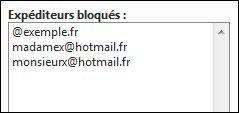 bloquer ou autoriser un expediteur sur hotmail 4
