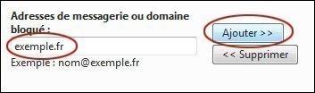 bloquer ou autoriser un expediteur sur hotmail 3