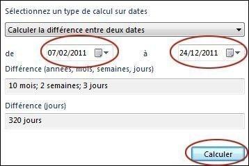 calcul de la date sur seven 1