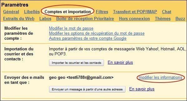 changer d adresse de reponse sur gmail 1