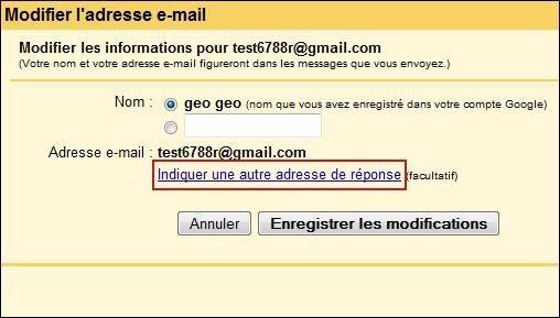 changer d adresse de reponse sur gmail 2
