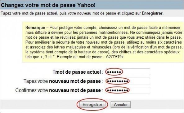 changer de mot de passe sur yahoo mail 3