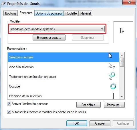changer le curseur de la souris sur windows 7 3