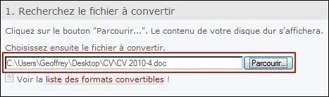 convertir un fichier en pdf 0