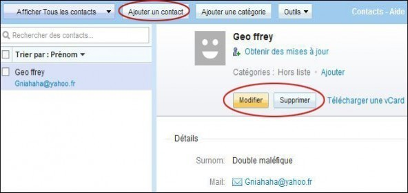 creer et gerer vos contacts sur yahoo mail 2