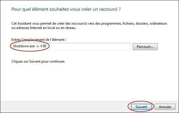 creer un bouton d extinction rapide du pc sur windows 7 1