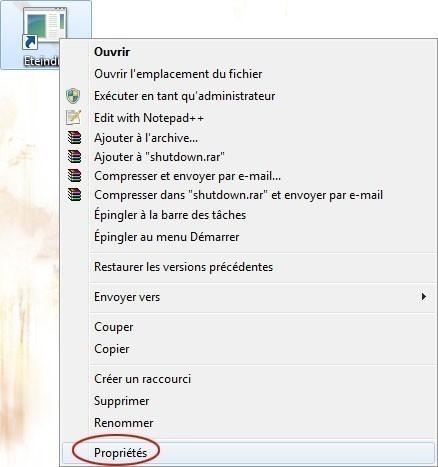 creer un bouton d extinction rapide du pc sur windows 7 3