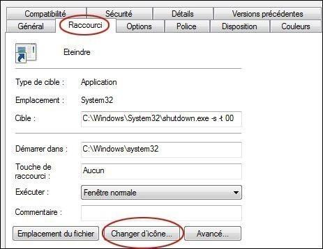 creer un bouton d extinction rapide du pc sur windows 7 4