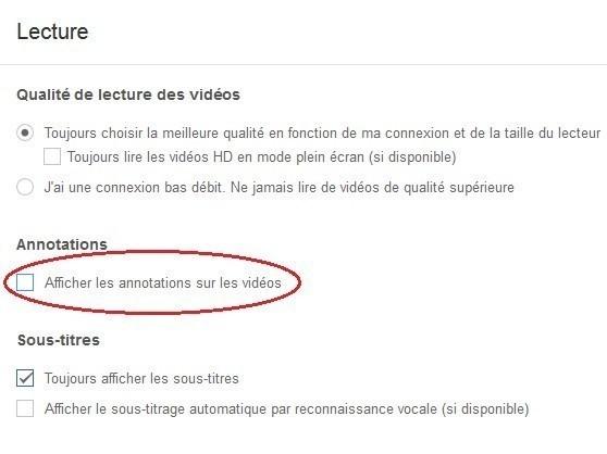 desactiver les annotations sur youtube 2