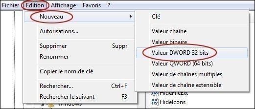 desactiver les bulles d informations sur windows 7 2