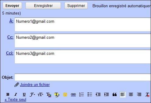 envoyer un mail en copie carbone invisible sur gmail 1