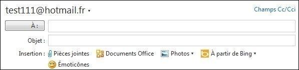 Envoyer un mail en copie carbone invisible sur Hotmail