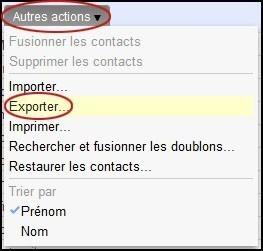 exporter vos contacts sur gmail 1