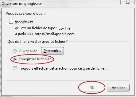 exporter vos contacts sur gmail 3