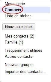 Exporter vos contacts sur Gmail
