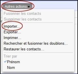 importer des contacts sur gmail 1