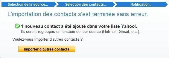 importer des contacts sur yahoo mail 4