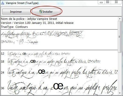 installer une nouvelle police sur windows 7 4