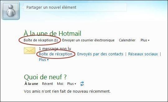 Lire et écrire un e-mail sur hotmail