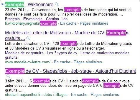 rechercher un mot dans une page web 1