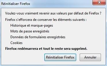 reinitialiser firefox 2
