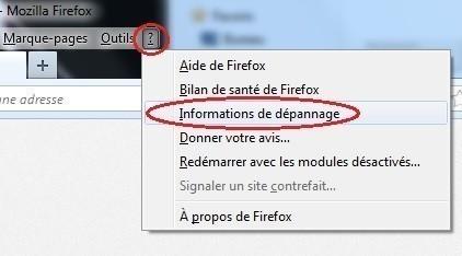 reinitialiser firefox 0
