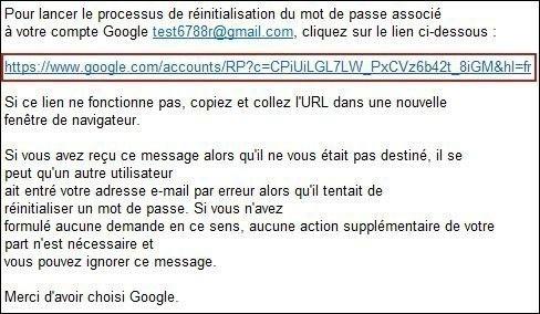 retrouver votre mot de passe gmail 4