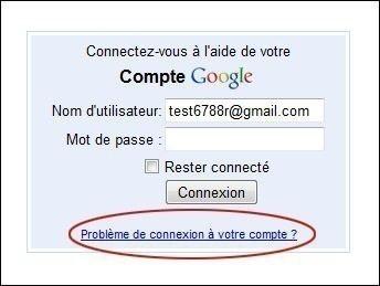 retrouver votre mot de passe gmail 0