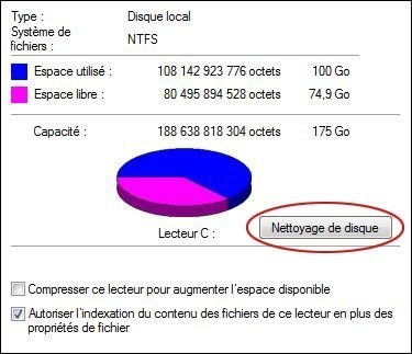 supprimer les points de restauration sur windows 7 2