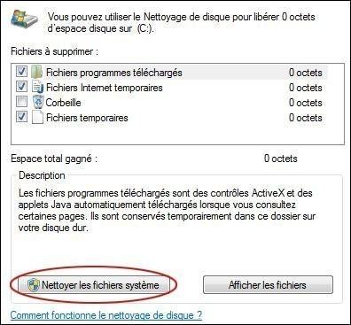 supprimer les points de restauration sur windows 7 3