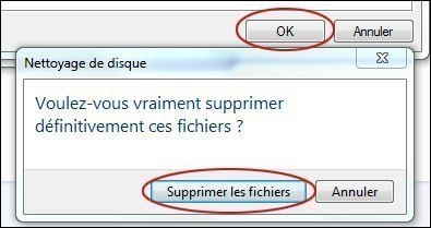 supprimer les points de restauration sur windows 7 6