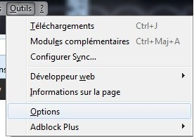 Supprimer les suggestions de la barre d'adresse sur Firefox
