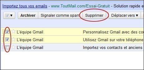 supprimer ou deplacer un mail sur gmail 0