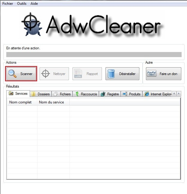 supprimer un logiciel indesirable avec adwcleaner 0