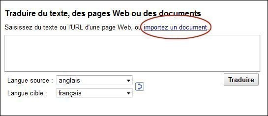 traduire un document sur google 1