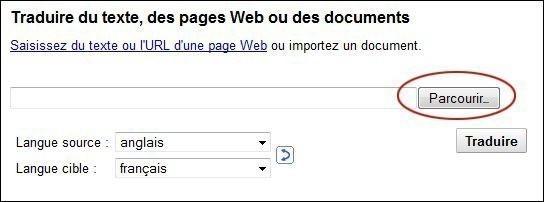 traduire un document sur google 2