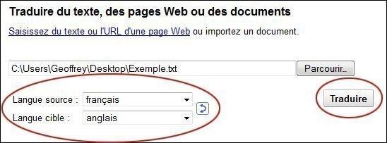 traduire un document sur google 4
