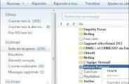 Windows Live Mail transférer un email