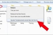 Ajouter un dossier dans les favoris sous Windows 7