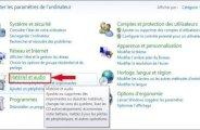 Apparence des périphériques audio Windows 7