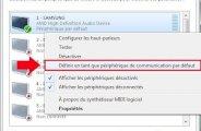 Changer de périphérique audio Windows 7
