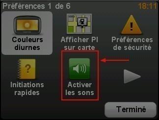 Activer desactiver le son dans le GPS TomTom ONE 3