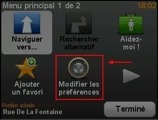 Activer desactiver les couleurs diurnes dans le GPS TomTom ONE 1
